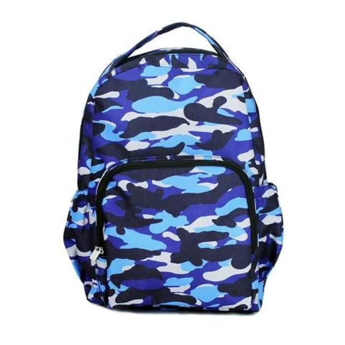 Blue Camo Backpack
