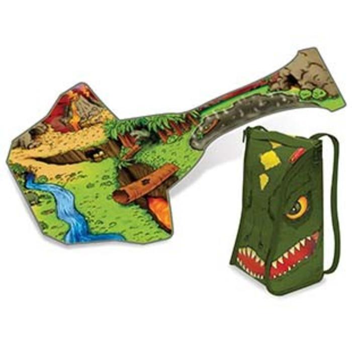 ZipBin 45 Dinosaur Bring Along Backpack w/1 Dinosaur