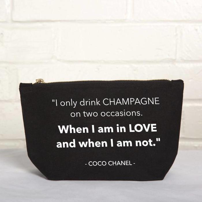 """Drink Champagne"" Pouch"