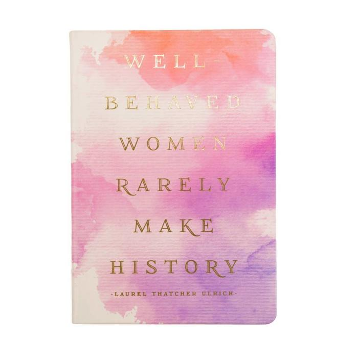 Style Journal Watercolor Well Behaved Women 6x8