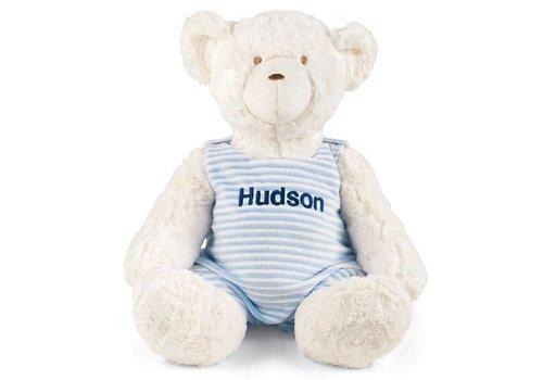 Mudpie Monogrammed Teddy Bear- Blue