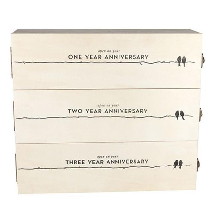 Newlywed's Anniversary Wooden Wine Storage Box