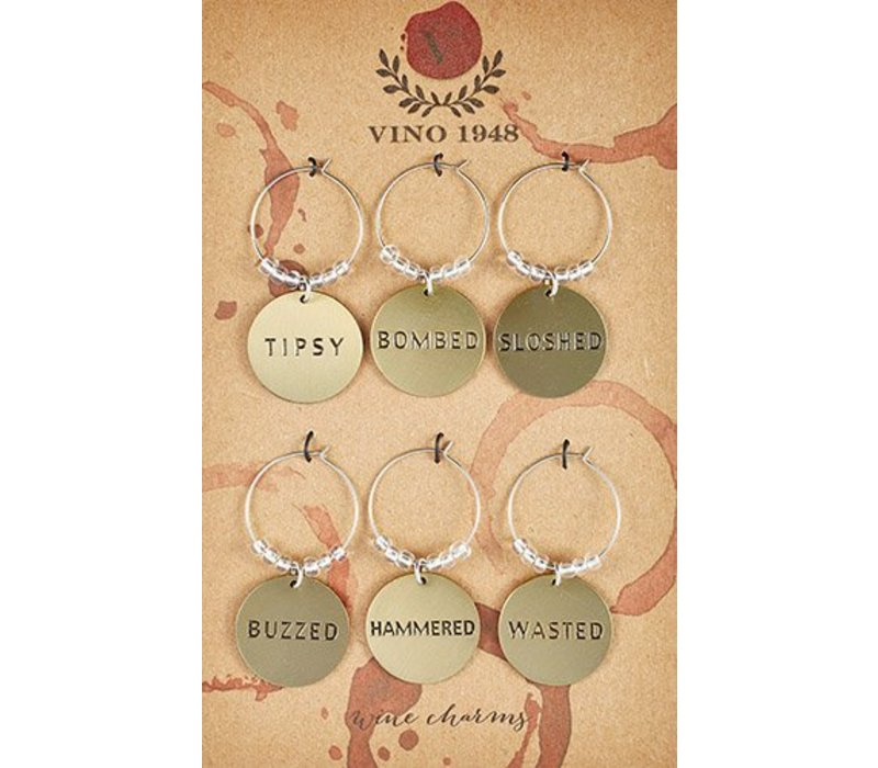 Drunk Wine Charms