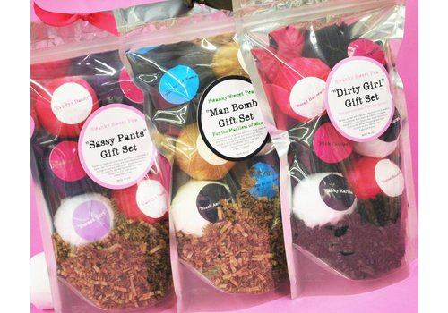 Swanky Sweet Pea Man Bath Bomb GIft Set