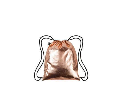 Sarut Metallic Rose Gold Drawstring Backpack