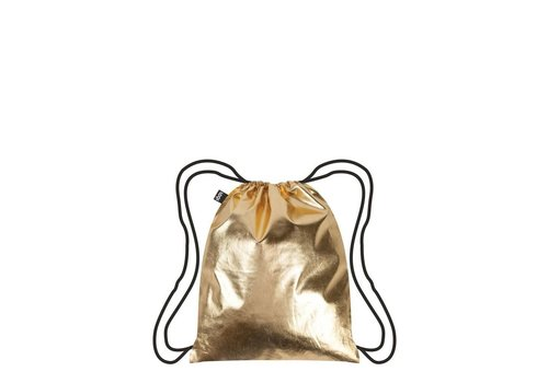Sarut Metallic Gold Drawstring Backpack