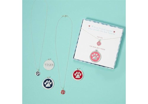 Two's Company Paw Necklaces & Collar Set