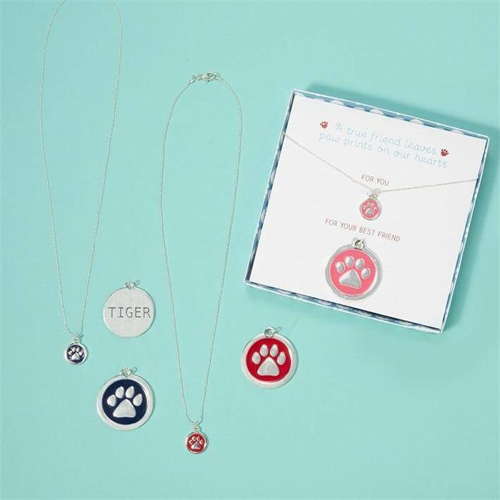 Paw Necklaces & Collar Set