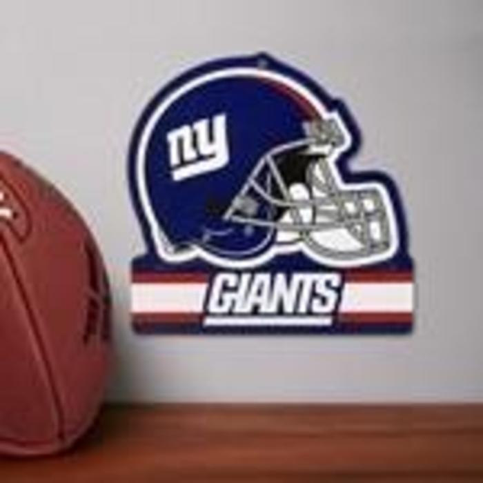 New York Giants Embossed Metal Helmet Sign