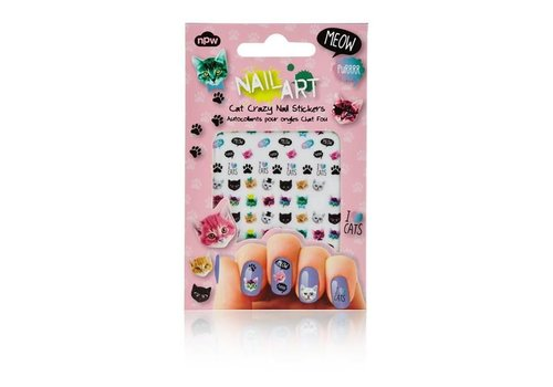 NPW Cat Crazy Nail Stickers