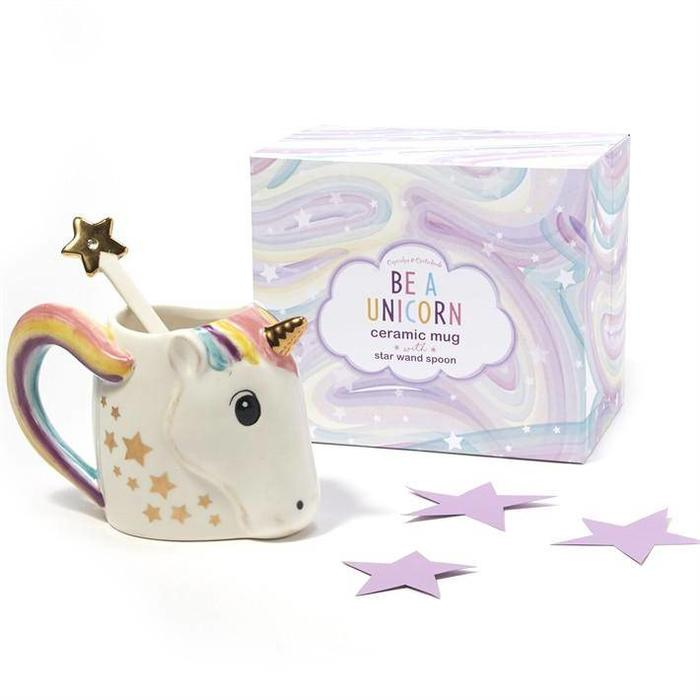 Unicorn Mug w/ Star Stirrer