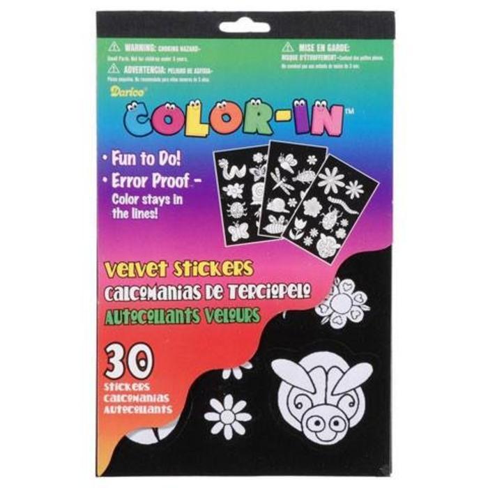 Velvet Sticker Book Bugs/Flowers