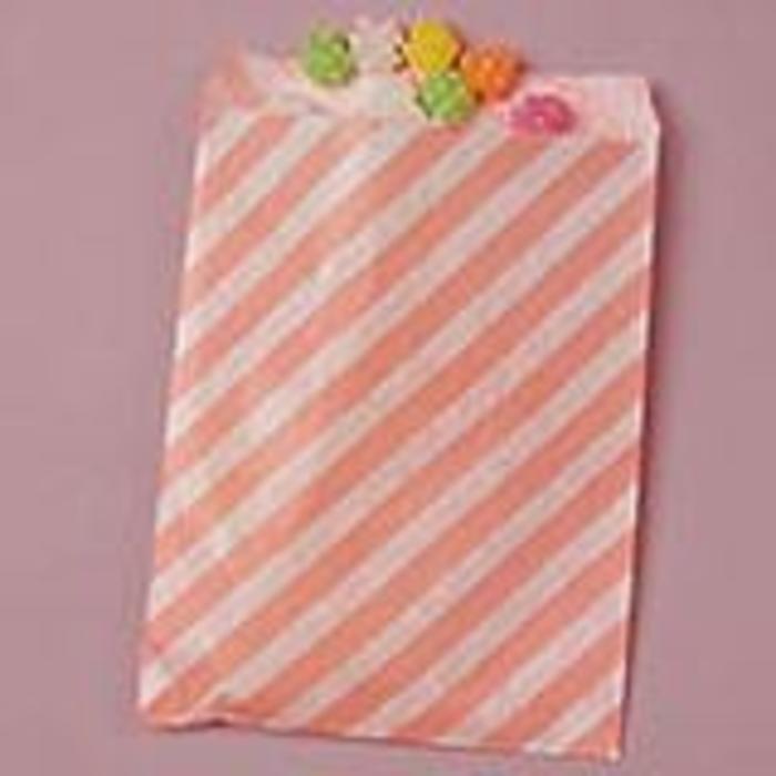 Pink Diagonal Striped Bags