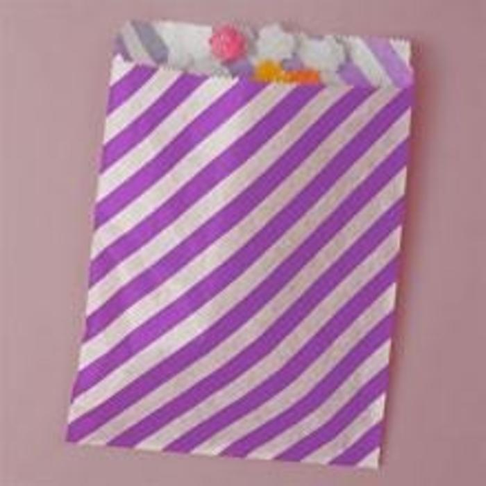 Lt Pink Diagonal Striped Bags