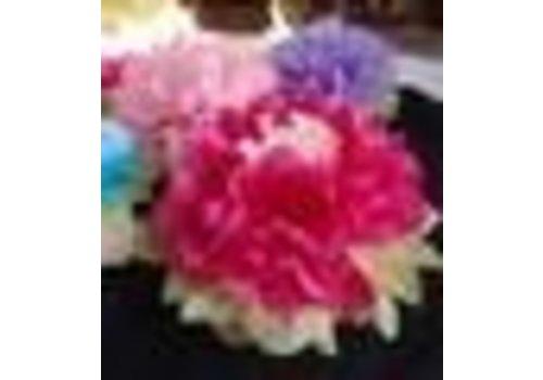 "Asian Multi Color Tissue Paper Flower Decorations 16"""