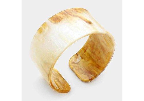 Gumdrop Lane Inc. Monogrammed Celluloid Cuff Bracelet- Neutral