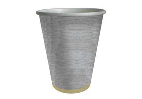 MOIRE-SILVER PAPER CUPS