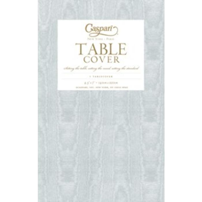 Moire Platinum Disposable Tablecover