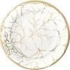 Gilded Majolica Ivory Dinner Plate