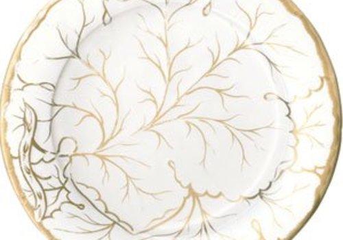 Gilded Majolica Salad/ Dessert Plate