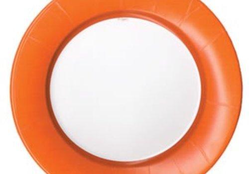 LINEN DEEP ORANGE DINNER PLATES