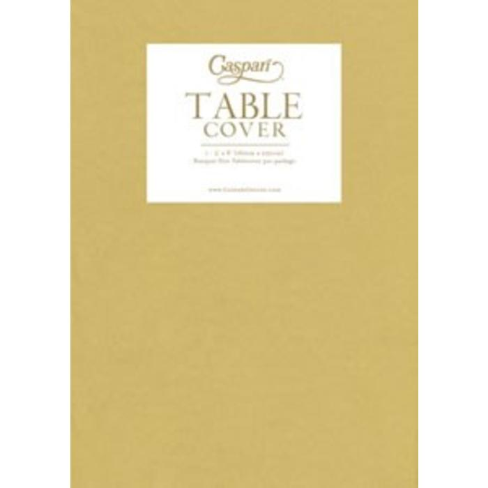 Paper Linen Gold Solid Tablecover