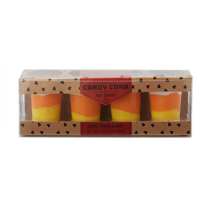 Edible Candy Corn Shot Glasses Set of Four