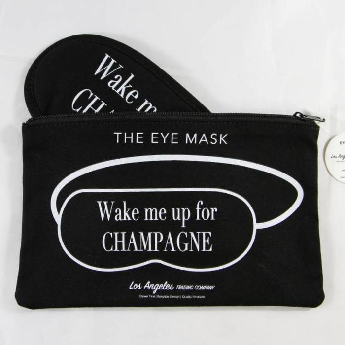 Wake Me Up For Champagne Eye Mask