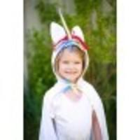 Unicorn Toddler Cape -white