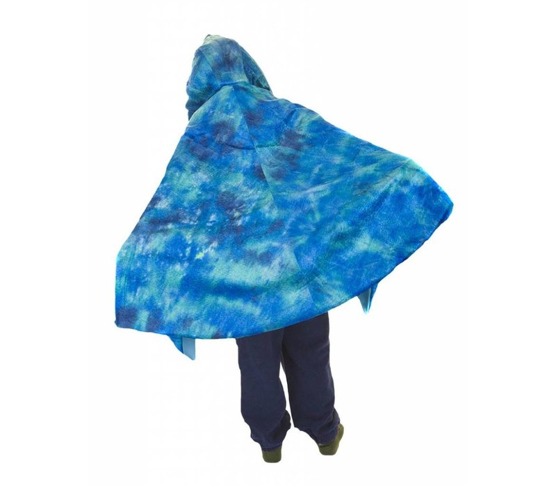 Pterodactyl Hooded Cape, Blue, 3-5