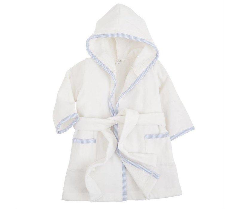 Blue Seersucker Hooded Robe