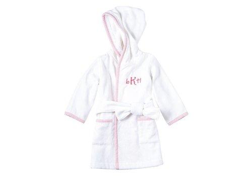 Pink SeerSucker Hooded Robe
