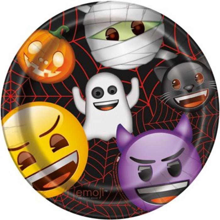 Halloween Emoji Lunch Plate