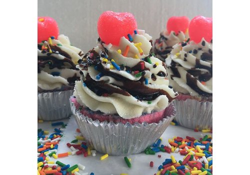 Ice Cream Sundae Cupcake Bath Bomb