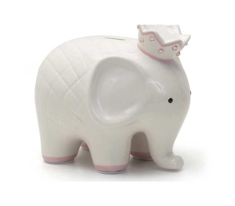 Coco The Elephant Piggy Bank- Pink