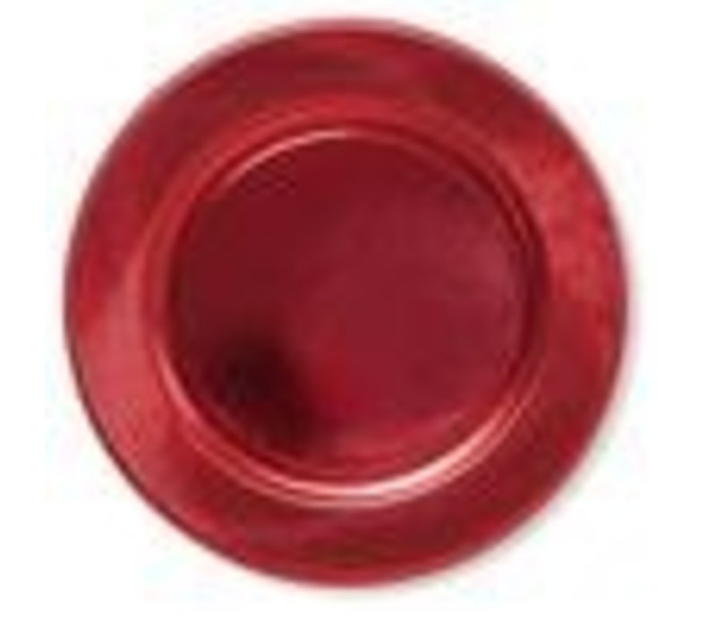 Righe Charger - Satin Red