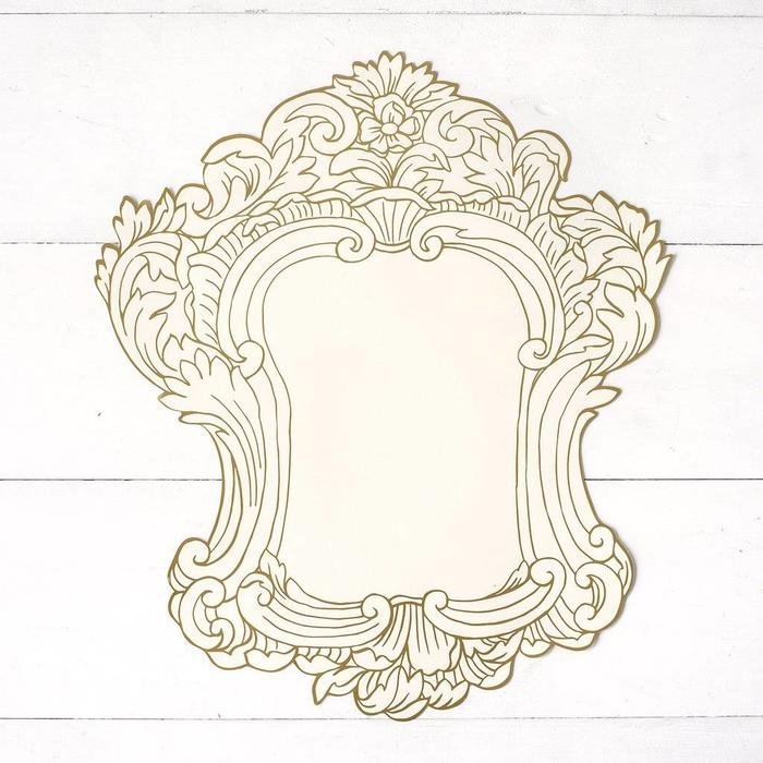 Die Cut Gilded Gold frame
