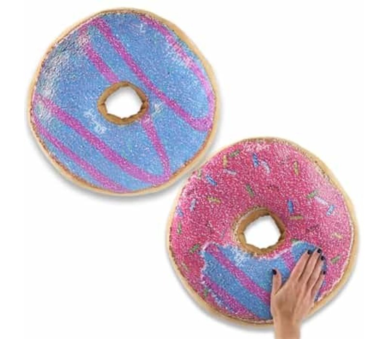 Flipping Sequin Donut Pillow
