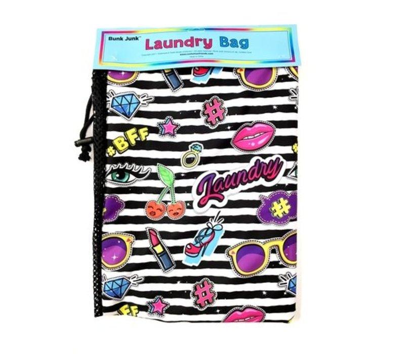 Stripe Patch Laundry Bag