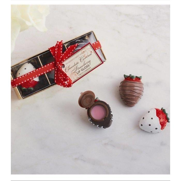 Chocolate Covered Strawberries Lip Gloss Set