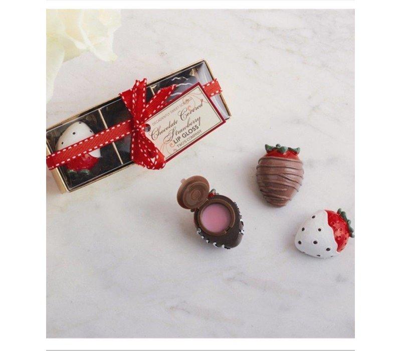 Chocolate Covered Strawberries Lip Gloss Set
