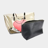 Heart Bag and Wallet