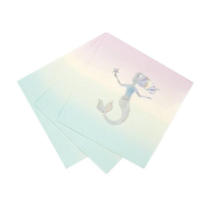 We Heart Mermaids Luncheon Napkins