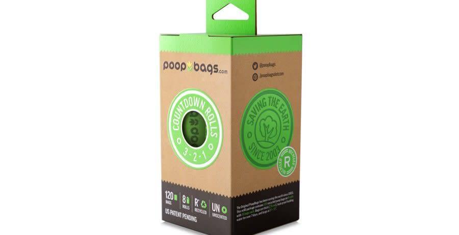 Poop Bags Sacs de ramassage, 8 rouleaux