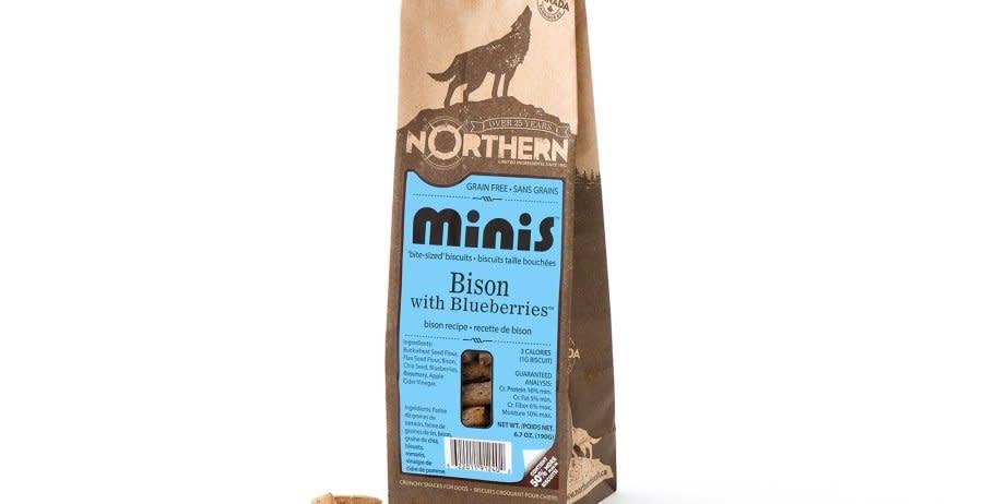 Northern  Biscuits Minis, Bison et Bleuets