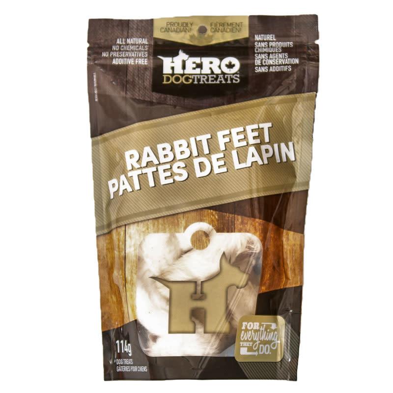 Hero Dog Treats Patte de lapin