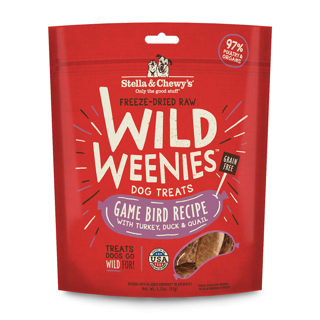 Stella & Chewy`s Gâteries Wild Weenies, Dinde, Canard et Caille