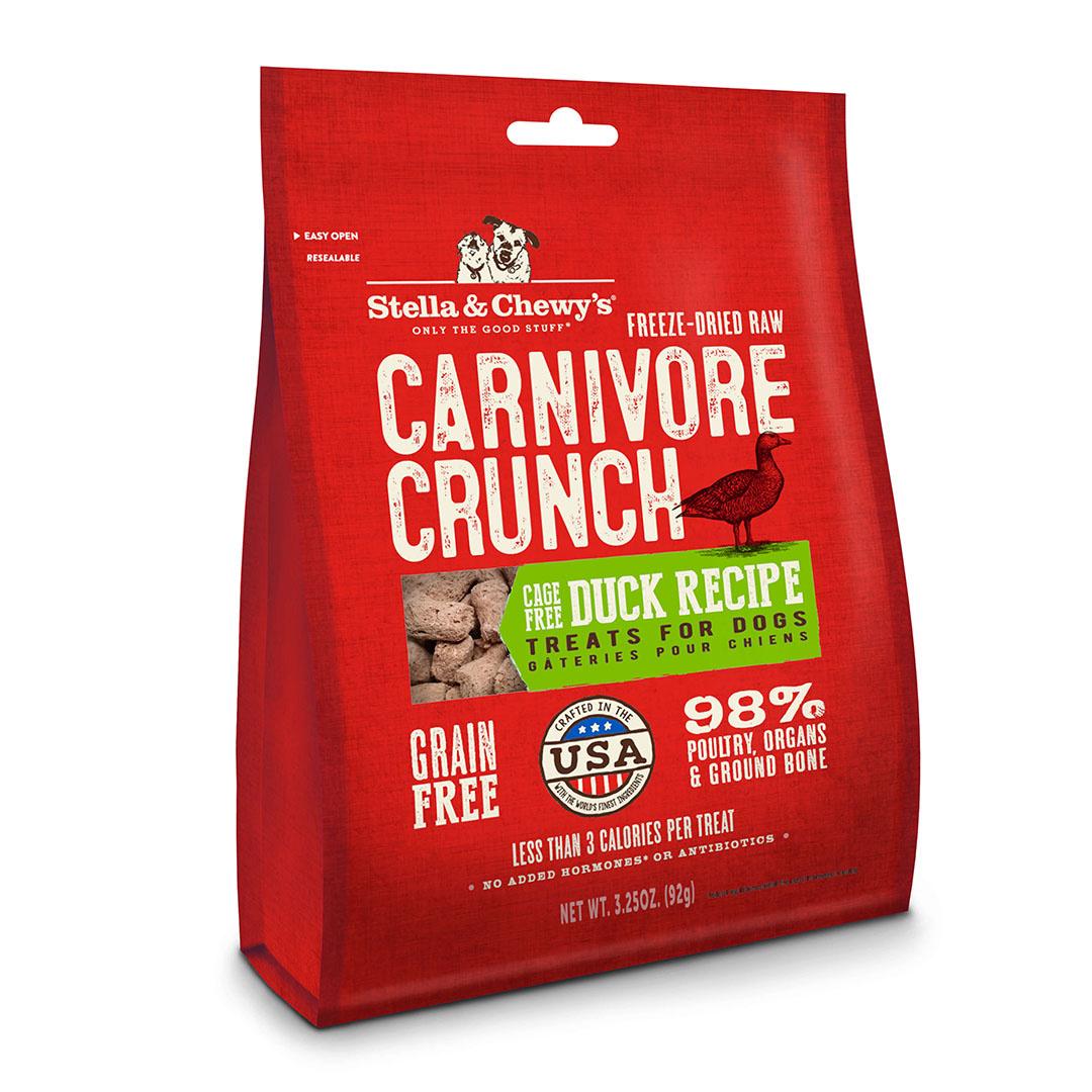 Stella & Chewy`s Gâteries Carnivore Crunch, Canard