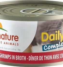 Almo Nature Dîner complet de thon et crevettes en bouillon