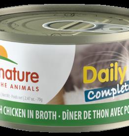 Almo Nature Dîner complet de thon et poulet en bouillon